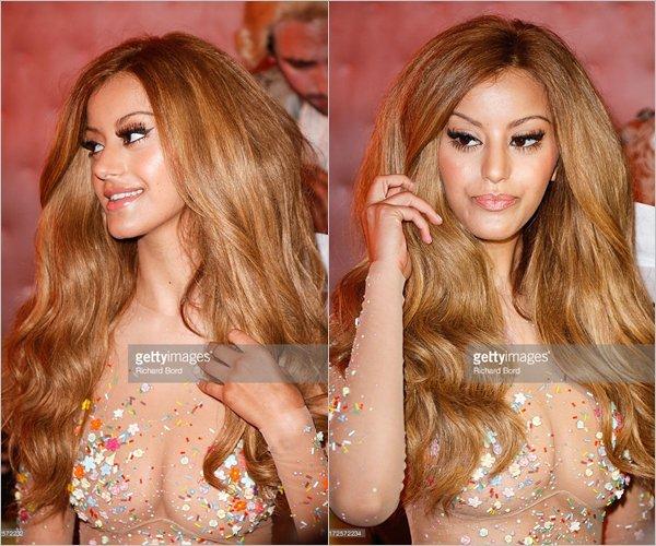 Zahia pour le lancement de sa boutique de lingerie et de pâtisserie à Boissy d'Anglas à Paris, le 03 juillet 2013.