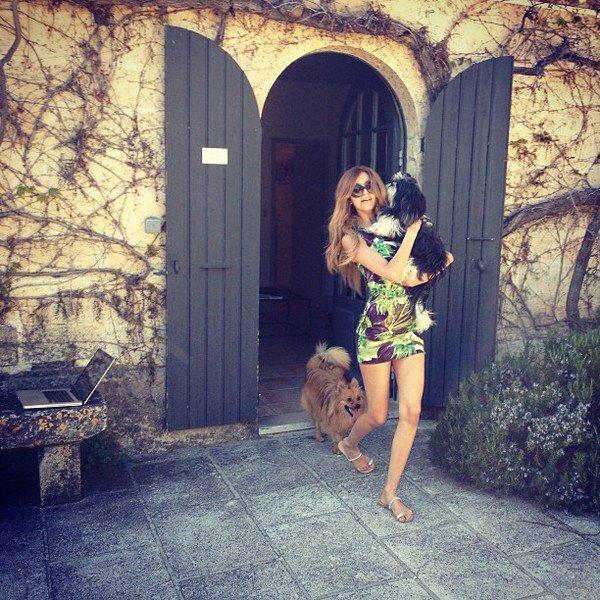 Moi et mes petits bébés en Provence.