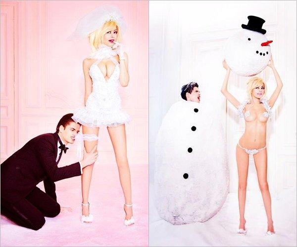 Découvrez les divins clichés de Zahia pour sa collection haute couture Automne-Hiver 2012-2013 par Ellen Von Unwerth.
