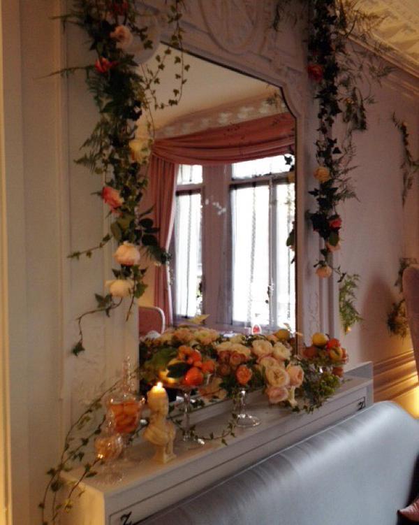 Le showroom orné de fleurs !