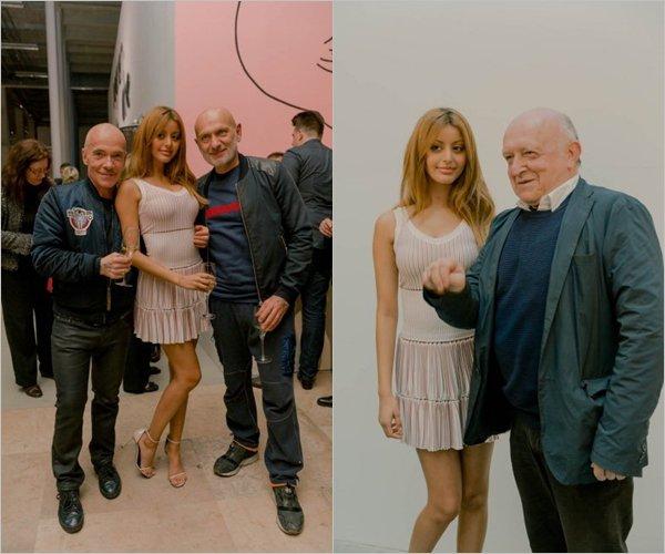 Zahia à la soirée des 50 ans de la galerie Daniel Templon au Palais de Tokyo à Paris, le 11 mai dernier.
