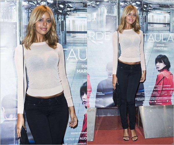 """Zahia était à l'avant-première du film de Sophie Marceau """"La Taularde"""" à Paris, le 13 septembre."""
