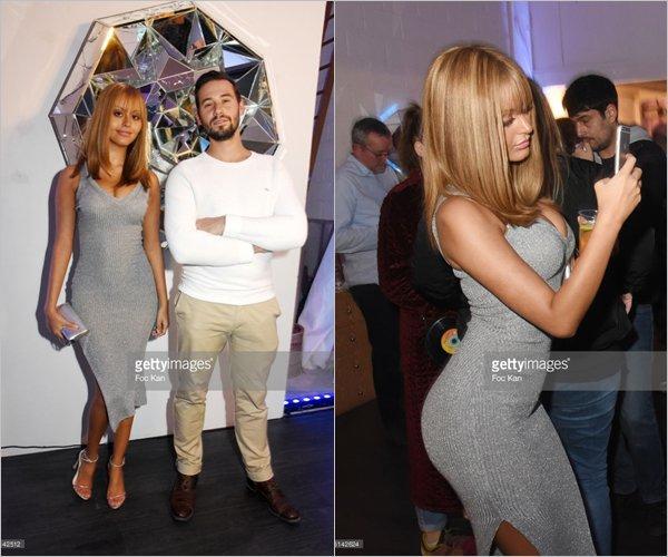 """Zahia à l'avant première de l'exposition """"Le Second Life"""" de Le Diamantaire à l'Atelier Philippe Berry le 16 novembre dernier, à Paris, France."""