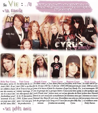 la famille de miley cyrus
