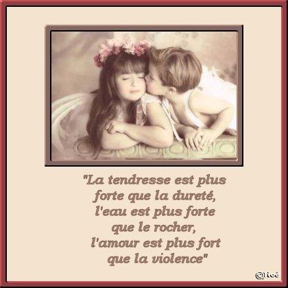 LA TENDRESSE EST+FORTE QUE TOUT !!!
