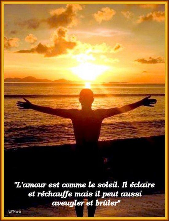 L'AMOUR EST COMME LE SOLEIL....