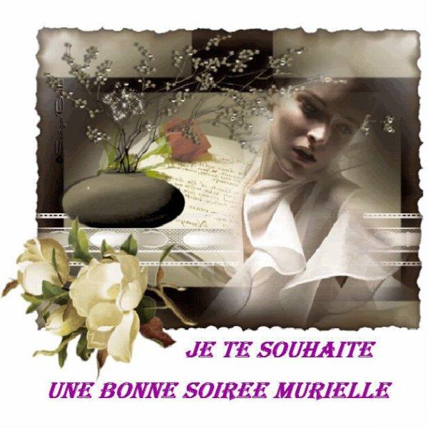 TRES JOLI CADEAU DE MON AMIE MARIE...BONNE SOIREE A TOI ET MES AMI(E)S... !!!