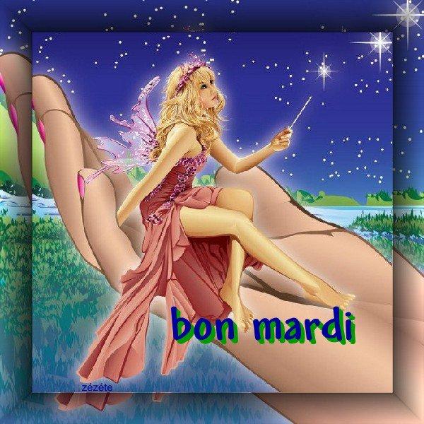 C AVEC CETTE JOLIE FEE QUE JE PASSE VOUS SOUHAITER UN BON MARDI AINSI QU'un BON APPETIT....BISOUSSS A MES AMI(E)S... !!!
