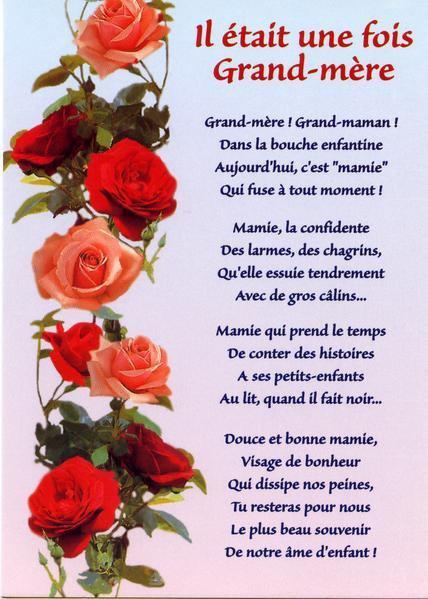 IL ETAIT UNE FOIS GRAND-MERE....! BONNE FETE A TOUTES LES MAMIES !!!!