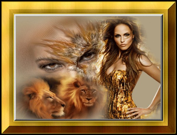 TRES BELLE IMAGE .... MI FEMME MI ANIMAL....