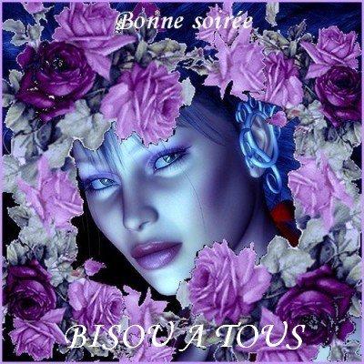 BONNE SOIREE A VOUS TOUS ET TOUTES...BISOUSSS....!!!