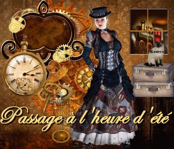PASSAGE A L'HEURE D'ETE...!!!! PENSEZ A AVANCER VOS MONTRES...HORLOGES...PORTABLES ETC....A 2H IL SERA 3H!!!