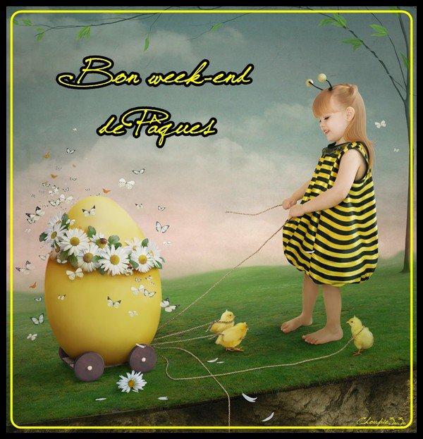 BON WEEK END DE PAQUES....PROFITEZ BIEN DE CE LONG WEEK PROLONGE ET DU CHOCOLAT...!!! (avec modération...si possible!!! )