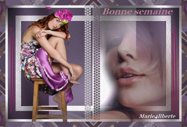 BONNE SEMAINE A VOUS TOUS ET TOUTES...BON COURAGE POUR CEUX (CELLES!!!)QUI NE FONT PAS LE PONT...!!! BISOUSS...!!!