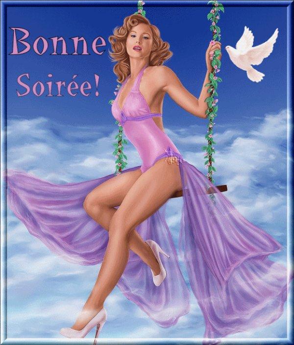 BONNE SOIREE A VOUS TOUS ET TOUTES! BISOUS...