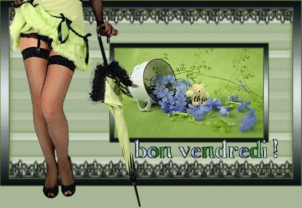 BON VENDREDI A TOUS ET BONNE FIN DE SEMAINE... GROS BISOUS A TOUS MES AMI(E)S....!!!