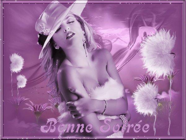 BONNE SOIREE A VOUS TOUS ET TOUTES...BISOUSS A MES AMI(E)S....