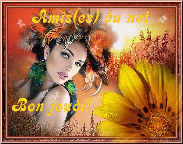 BON JEUDI A VOUS MES AMI(E)s DU NET...BISOUSS....!!!
