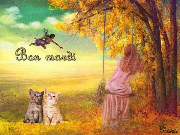 AU REVOIR L'éTé ..... BONJOUR L'AUTOMNE !!! BON MARDI A VOUS TOUS ET TOUTES.... BISOUSSS   ♥♥♥