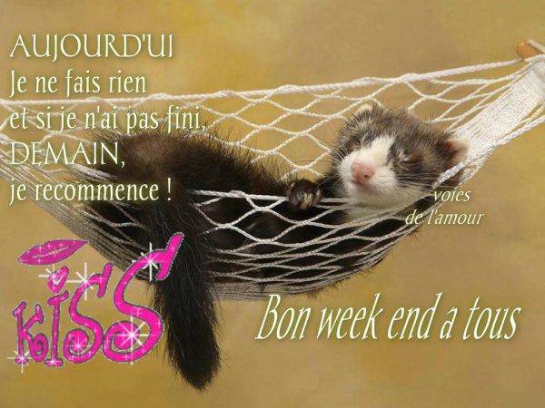 BON SAMEDI ET BON WEEK END A VOUS TOUS ET TOUTES....BISOUSSS.... !!!