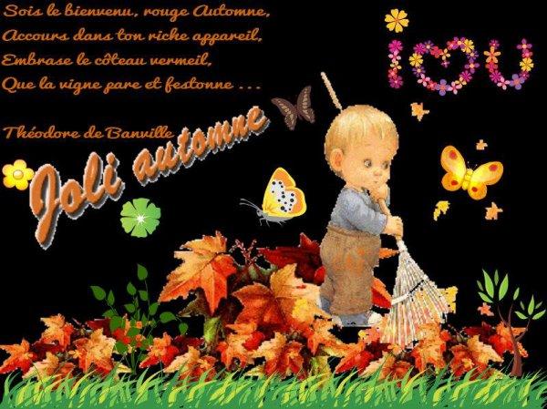 LE MOIS DE SEPTEMBRE EST DEJA FINI....BONJOUR OCTOBRE !!! BON MERCREDI ET BON MOIS D'OCTOBRE A VOUS TOUS ET TOUTES !!! BISOUS MES AMI(E)S.... ♥♥♥