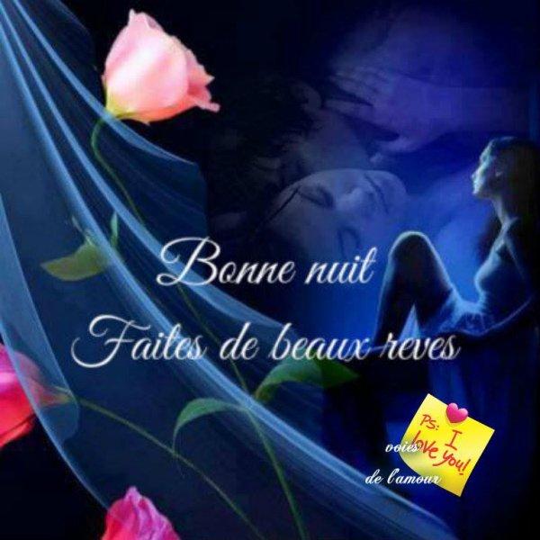 BONNE FIN DE SOIREE ET DE WEEK END SUIVIE D'UNE DOUCE NUIT.... BISOUSS.... !!!