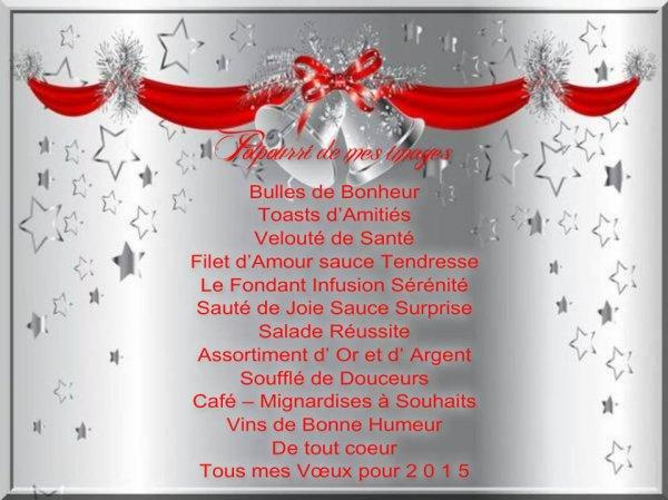 BONNE SOIREE...BON REVEILLON DU NOUVEL AN !!! BONNES FETES DE FIN D'ANNéE !!!! BISOUS MES AMI(E)S..... ♥♥♥