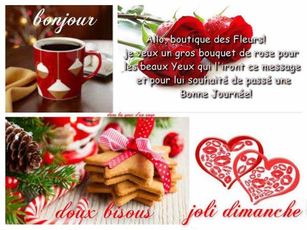 BON DIMANCHE A VOUS TOUS ET TOUTES... LE 1ER DE FEVRIER !!!! BON MOIS DE FEVRIER !!! BISOUS MES AMI(E)S.... ♥♥♥