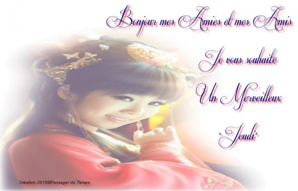 BON JEUDI APRES-MIDI AVEC LE SOLEIL...ça FAIT DU BIEN ...HMMMM !!! BISOUS MES AMI(E)S.... ♥♥♥