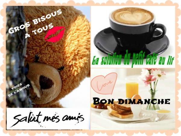 BON DIMANCHE A VOUS TOUS ET TOUTES....BISOUSS....♥♥♥