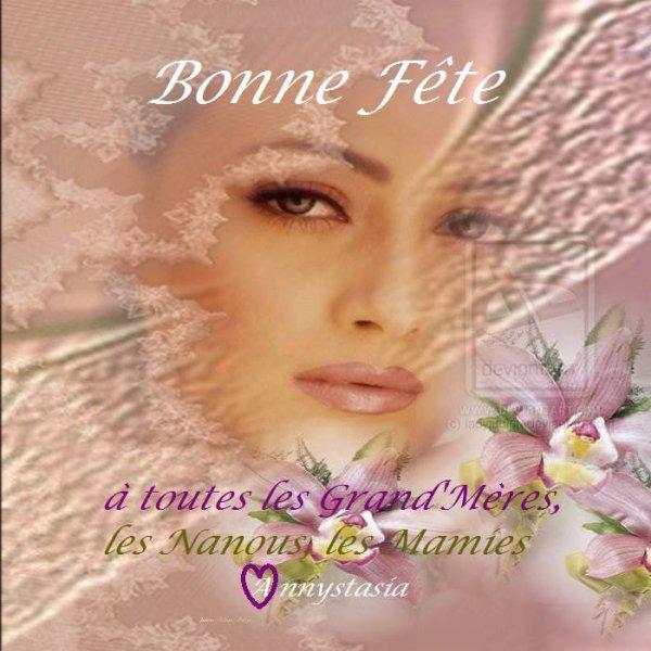 BON DIMANCHE...BON MOIS DE MARS ET BONNE FETE A TOUTES LES MAMIES !!!! BISOUSSS ♥♥♥