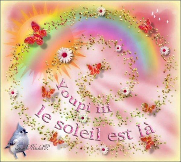 BON LUNDI APRES-MIDI A VOUS TOUS ET TOUTES...UN APRES-MIDI ENSOLEILLé....C COOL !!! ;) AINSI QU'UNE TRES BONNE SEMAINE !!! BISOUS MES AMI(E)S......♥♥♥