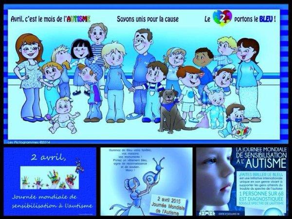 JOURNEE MONDIALE DE SENSIBILISATION A L'AUTISME.... SOYONS UNIS POUR LA CAUSE.... ;)