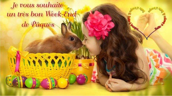 BON SAMEDI APRES-MIDI ET BON ET LONG WEEK END DE PAQUES !!! ;) BISOUS MES AMI(e)S.... ♥♥♥
