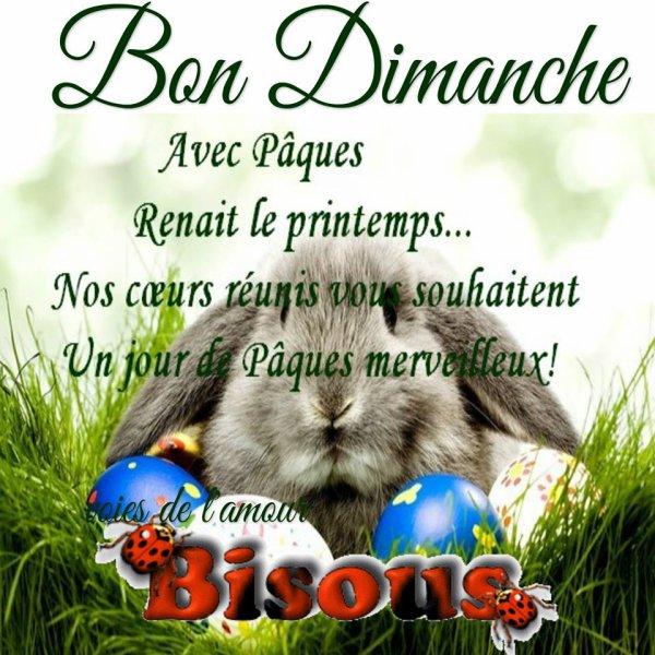 BONNE FIN DE DIMANCHE DE PAQUES MES AMI(e)S.... BISOUS CHOCOLATéS.... ;)