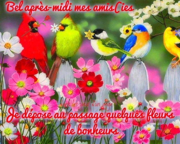 BON JEUDI APRES-MIDI ENSOLEILLé... ;)  BISOUS MES AMI(E)S.... ♥♥♥