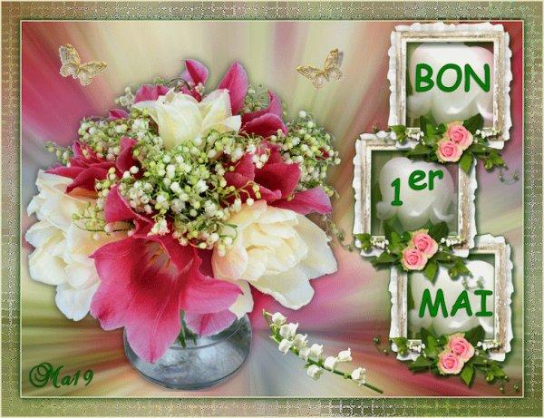 AU REVOIR AVRIL...BONJOUR MAI AVEC TOUS PLEINS DE BRINS DE MUGUET POUR VOUS...ET BEAUCOUP DE BONHEUR !!! ;) ♥