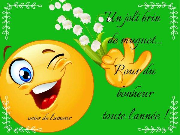 BONNE FETE DU TRAVAIL...BON 1ER MAI A VOUS TOUS ET TOUTES..QUE CE JOUR VOUS APPORTE PLEINS DE BRINS DE MUGUET ET BEAUCOUP DE JOIE...BONHEUR  POUR TOUTE L'ANNéE !!!  BISOUS FLEURIS MES AMI(e)s !!! ♥♥♥