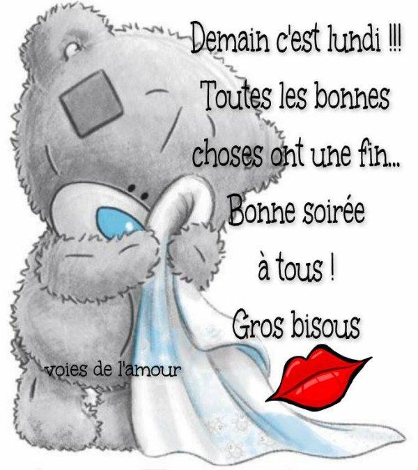 BONNE SOIREE SUIVIE D'UNE DOUCE NUIT ET UNE BONNE FIN DE ( LONG ! ) WEEK END !!! BISOUS MES AMI(E)S.... ♥♥♥