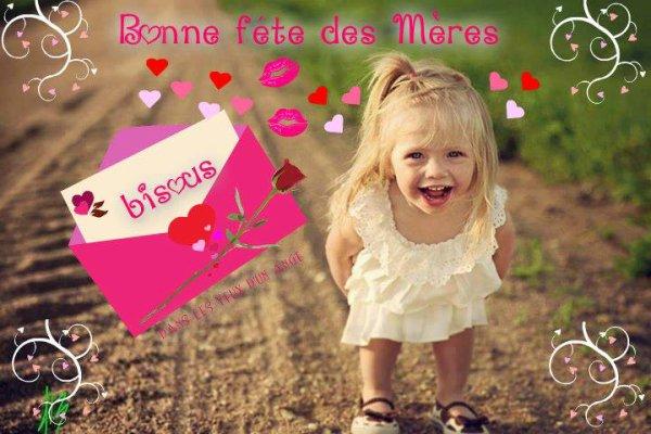 BON DIMANCHE ET BONNE FETE A TOUTES LES MAMANS DU MONDE ENTIER ! BISOUSSS ♥♥♥