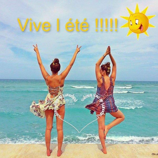 YOUPI C'EST ( enfin ! ) L'été !!! ;) ça SENT BON LES VACANCES !!! ;) BON ETE A VOUS TOUS ET TOUTES !!! BISOUS ENSOLEILLES ! ;) ♥