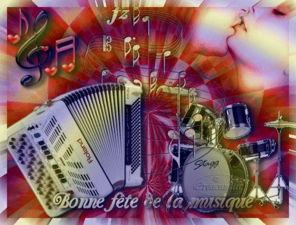 BONNE FETE DE LA MUSIQUE....ECLATEZ VOUS BIEN POUR CEUX QUI LA FETENT !!! ;)