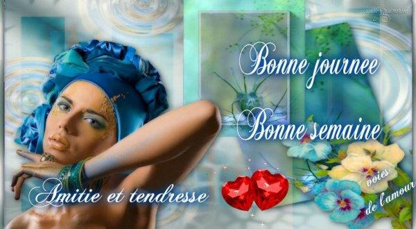 BON LUNDI A VOUS TOUS ET TOUTES ... BONNE  SEMAINE, ENSOLEILLEE ET CHAUDE PARAIT-IL LOL,  .. BISOUSSS !!! ♥♥♥