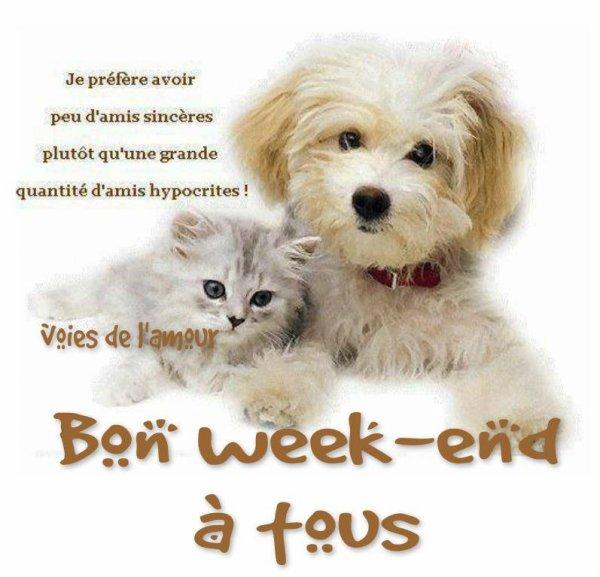 BON SAMEDI SOIR MES AMI(e)s- BON WEEK END !!!! BISOUS DOUX ♥♥♥