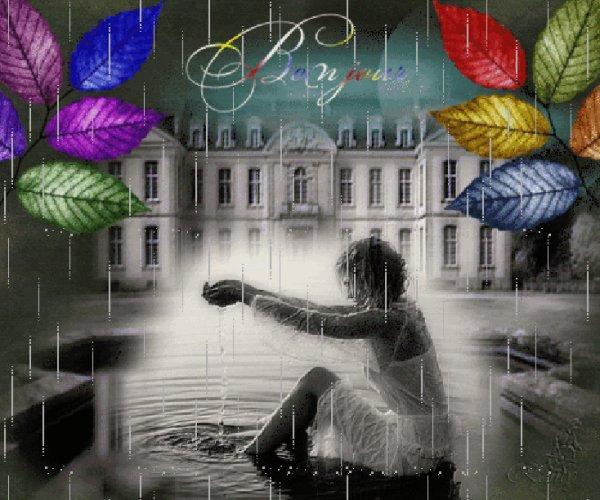 BON SAMEDI APRES-MIDI ET BON WEEK END ....MALGRE UN TEMPS MAUSSADE PAR CHEZ MOI ! BISOUS DOUX MES AMI(E)S.... ♥♥♥