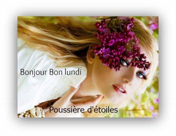 BON LUNDI SOIR...BONNE SOIREE ET BONNE SEMAINE A VOUS TOUS ET TOUTES ! BISOUSSSS ♥♥♥