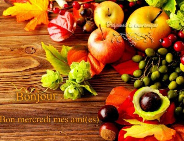 BON MERCREDI SOIR....BONNE SOIREE A VOUS TOUS ! BISOUS MES AMI(E)S.... ♥♥♥