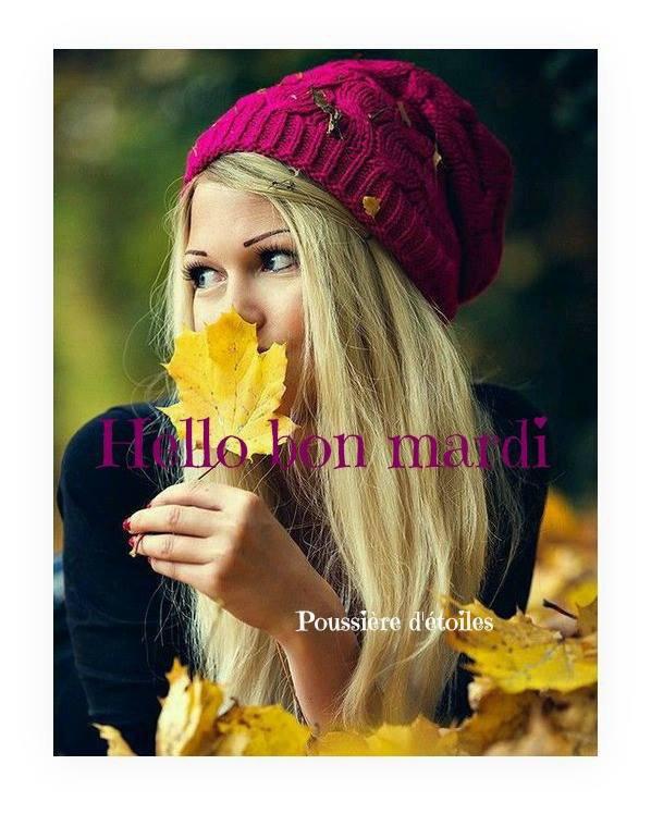 BON MARDI SOIR...BONNE SOIREE ET AVEC UN PEU DE RETARD BONNE SEMAINE A VOUS TOUS ET TOUTES ! ;) BISOUS MES CHAMI (e)S ! ;) (l)