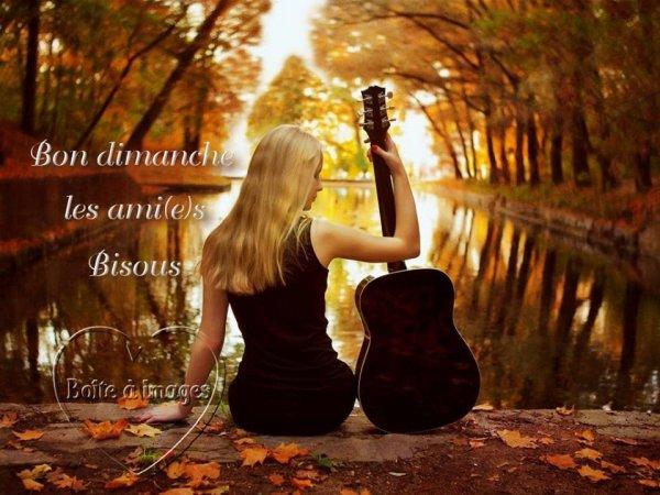 BON DIMANCHE A VOUS TOUS ET TOUTES....ET N'OUBLIEZ PAS DE CHANGER VOS REVEILS ( si pas encore fait !!!) ON PASSE A L'HEURE D'HIVER !!! BISOUSS ♥♥♥