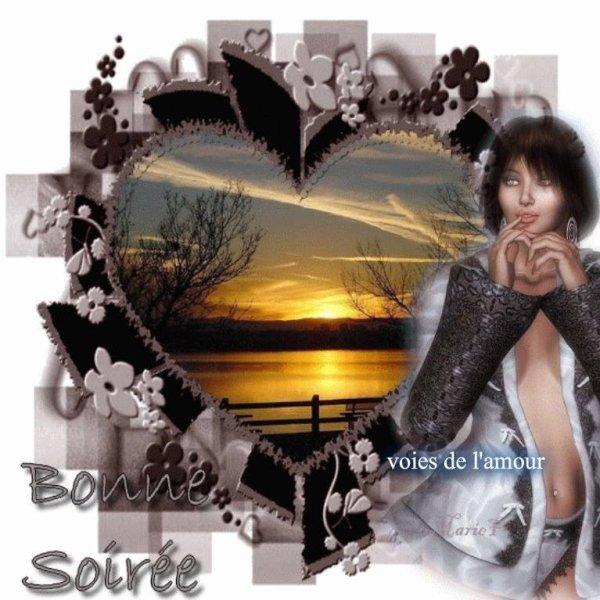BONNE SOIREE SUIVIE D'UNE DOUCE NUIT ! BISOUS MES AMI(E)S !!!! (l) (l) (l)